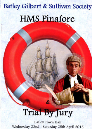 Trial By Jury/HMS Pinafore programme cover (2015)